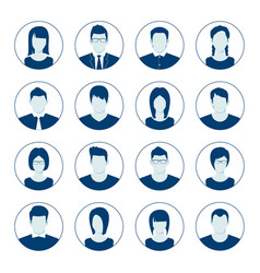 user account avatar user portrait icon set vector image