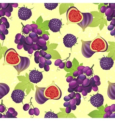 Violet fruits seamless vector
