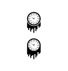 watch brush silhouette vector image