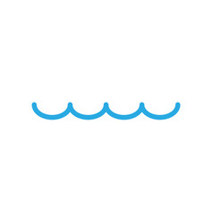 water surface icon graphic design template vector image