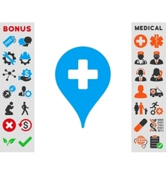 Clinic Map Pointer Icon vector image