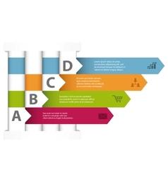 Interwoven design infographic template vector image