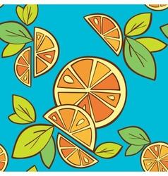 orange citrus bright Seamless pattern background vector image
