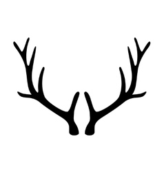 Deer antlers Horns icon isolated on white vector image vector image