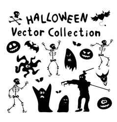 Halloween Silhouettes vector image vector image