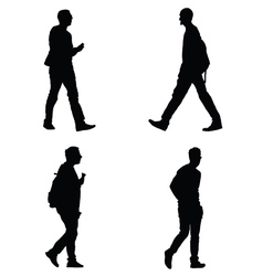 man set silhouette vector image vector image