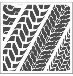 Tire tracks - set vector image
