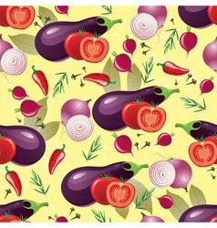 violet vegetables seamless vector image vector image