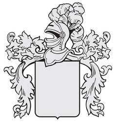 aristocratic emblem No1 vector image