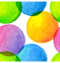 Bright rainbow colors watercolor painted circles vector image vector image