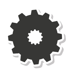 gear setup isolated icon vector image