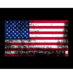 grunge flag of america vector image