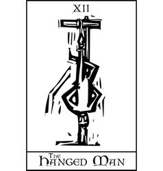 Tarot Card Hanged Man vector image vector image