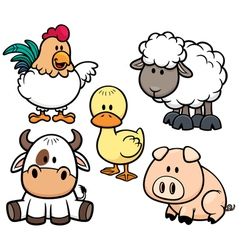 Animals Farm vector image vector image