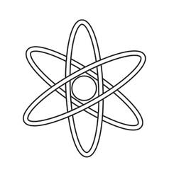 atom molecule structure model pictograph vector image vector image