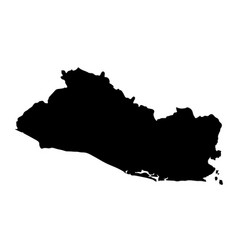 black silhouette country borders map of salvador vector image