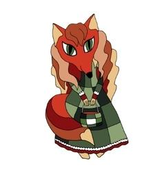 fox hipster girl fashion vector image vector image