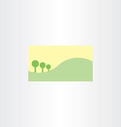 landscape business card template background vector image vector image