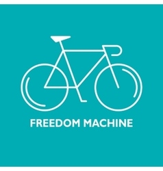 Modern of linear bicycle vector image