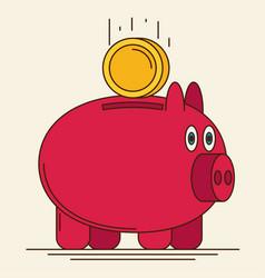 pig bank icon vector image vector image