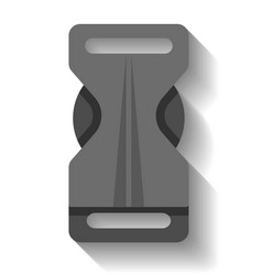 plastic buckle clasp isolated vector image