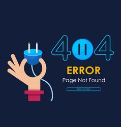 404 hand hold plug error vector image