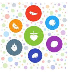 7 juicy icons vector image