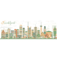 Abstract Frankfurt Skyline with Color Buildings vector