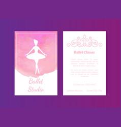 ballet studio card template classes vector image