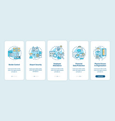 Biometrics use onboarding mobile app page screen vector