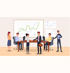 business negotiation flat vector image