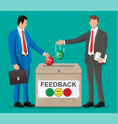 Business people and rating box vector