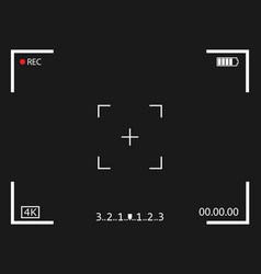 Camera frame viewfinder screen icon vector
