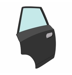 Car door single cartoon icon vector