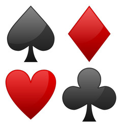 Card suit symbols spade heart diamond and club vector