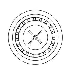Casino roulette wheel gamble entertainment vector