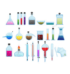Chemical laboratory ware vector
