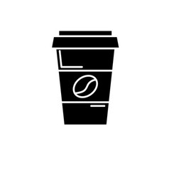 coffee to go black icon sign on isolated vector image