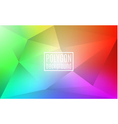 colorful rainbow polygon background triangle vector image