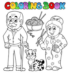 coloring book family collection 2 vector image