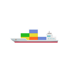 commercial container ship with containers vector image