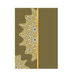 Cover page design mandala ornamnet for menu vector
