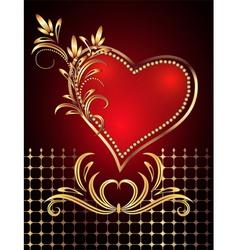 decorative valentines hearts vector image