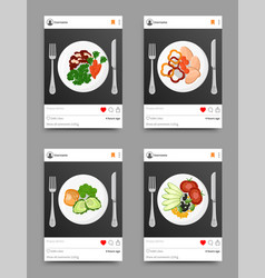 Dish collection on instagram vector