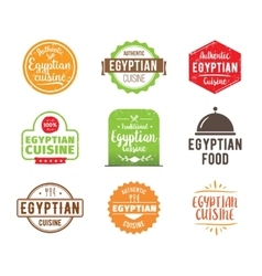 Egyptian cuisine label vector