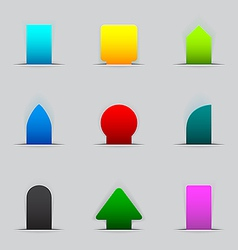 Feedback tabs on the edge of the web page vector image
