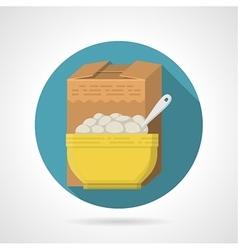 Flat color icon for porridge vector image