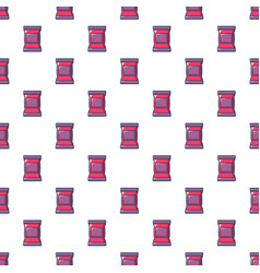 Food snack pillow bag pattern seamless vector