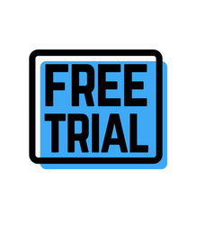 free trial stamp on white vector image