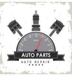 Gauge auto parts repair icon vector